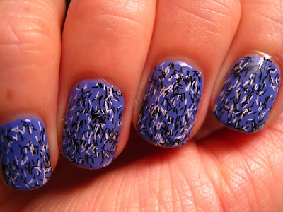 Electric-Purple-nail-polish-Barry-M-Confetti-Liquorice-Black-White
