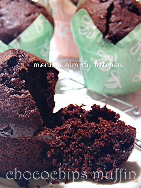 resep muffin coklat chocochips