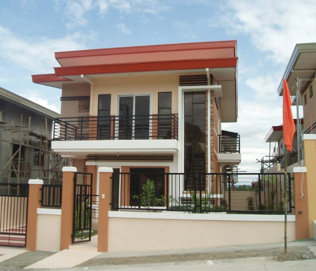 Concrete fence and steel gate design with photos in the for Small house gate design philippines