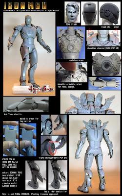 "Exhobi Toys Hyper Gokin Iron Man Mk III Diecast 6"" Figure"