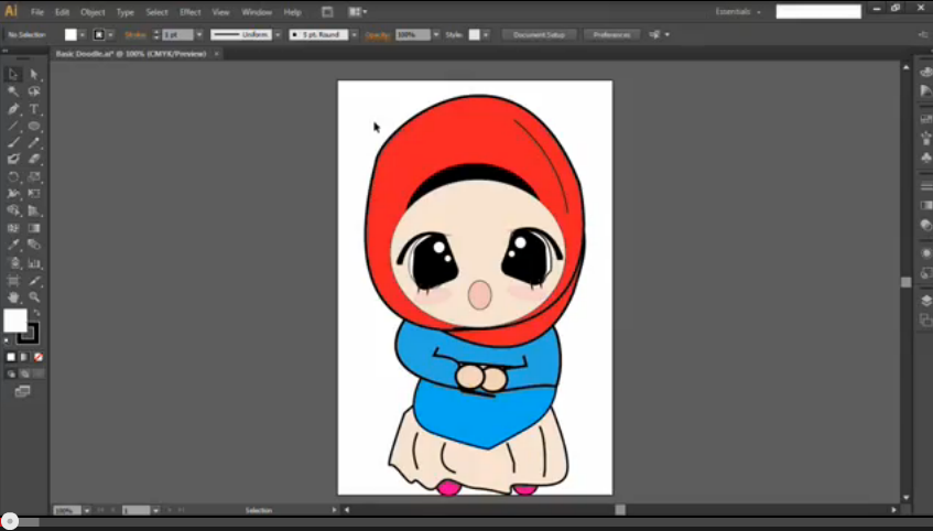 Cara Lukis Simple Doodle Dengan Illustrator