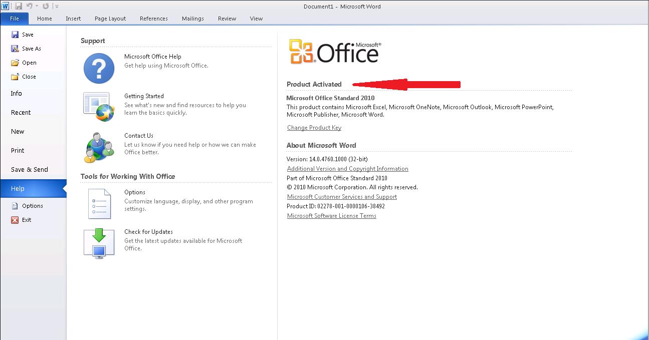 Office 2010 Keys