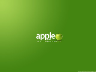 Green Apple Think Totally Different HD Wallpaper