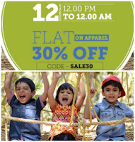 Get Flat 70% Off & Extra 30% off on Baby Clothing at Rs 84  Via babyoye