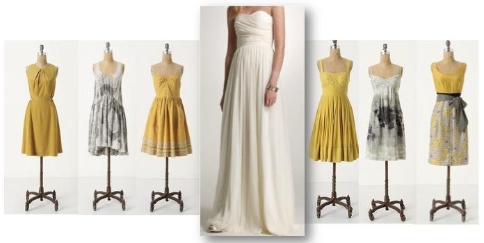 Yellow And Gray Wedding Bridesmaid Dresses 102