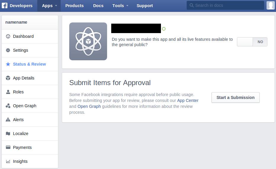 facebook_app_exit_development_mode