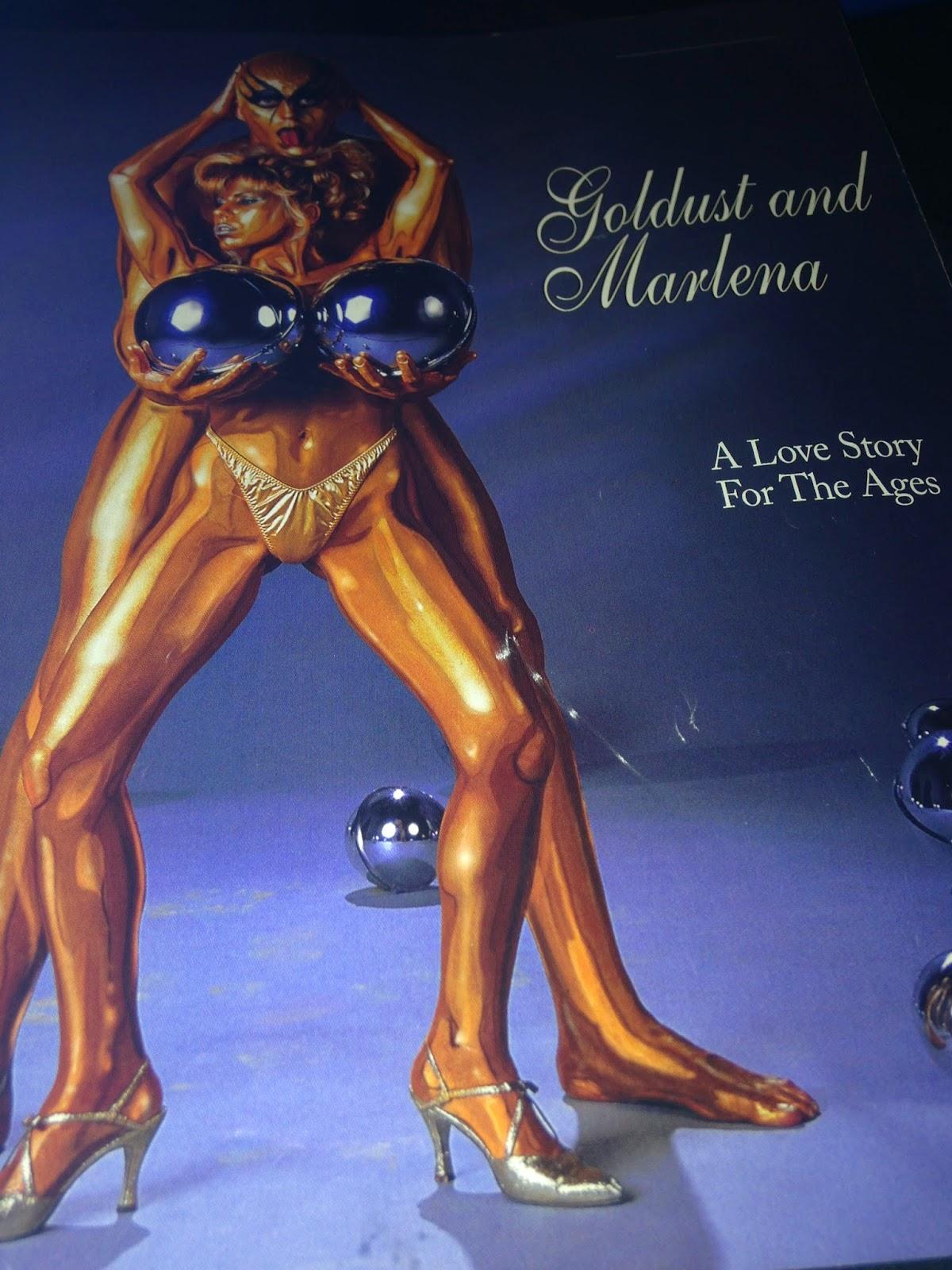 WWE - WWF RAW MAGAZINE 1997: Goldust and Marlena