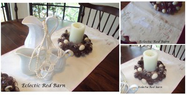 Eclectic Red Barn: Collage of Easter tablescape images