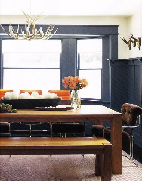 As it mixes elements of rustic with the farm table and modern