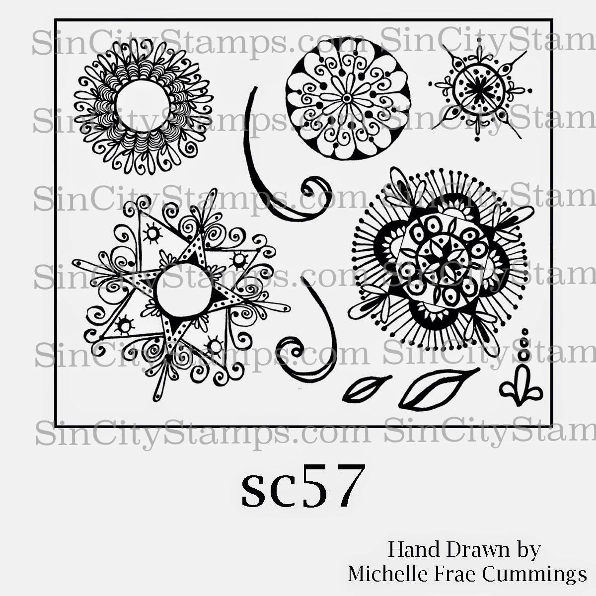 """Medallions"" Rubber Stamps"
