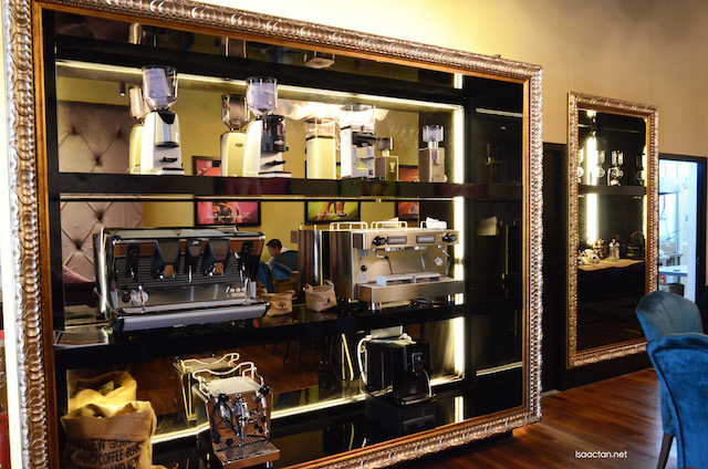 They are in the business of selling coffee machines too, so do check out their display