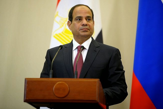 Abdel Fattah el-Sisi: 'President' of Egypt. (Photo by Russian Presidential Press and Info Office)
