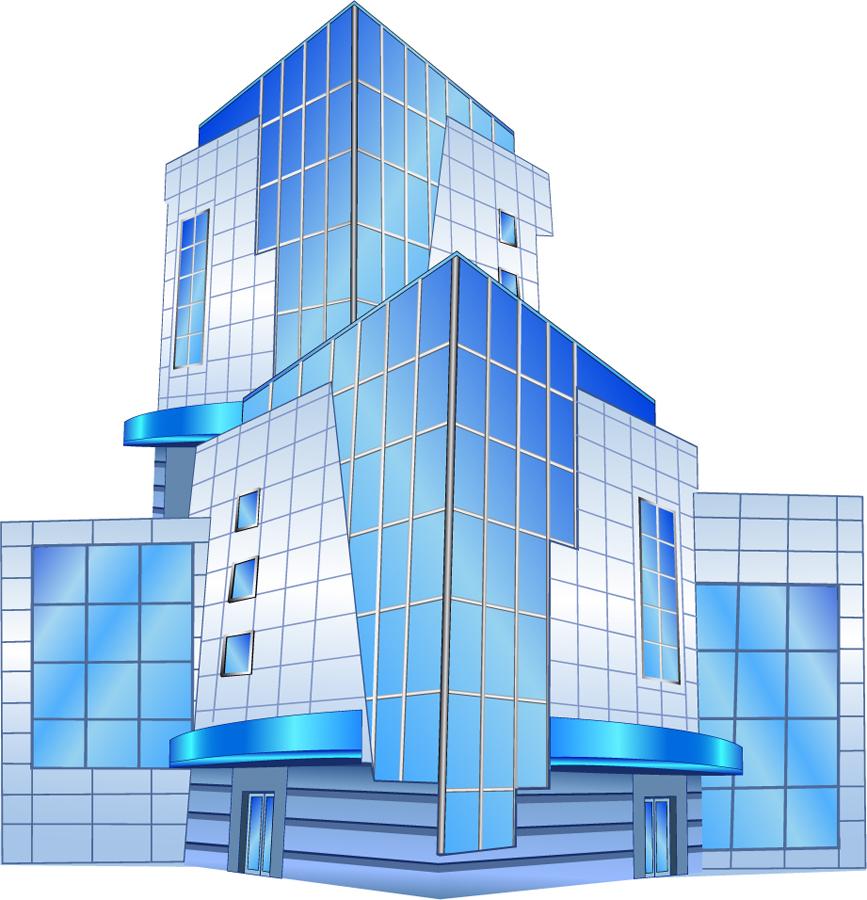 オフィスビルのクリップアート office building vector イラスト素材5