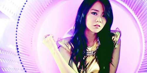 chica guapa coreana