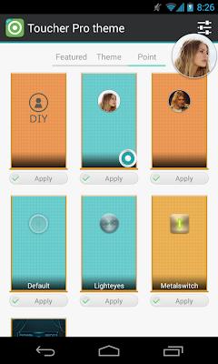 Toucher Pro app