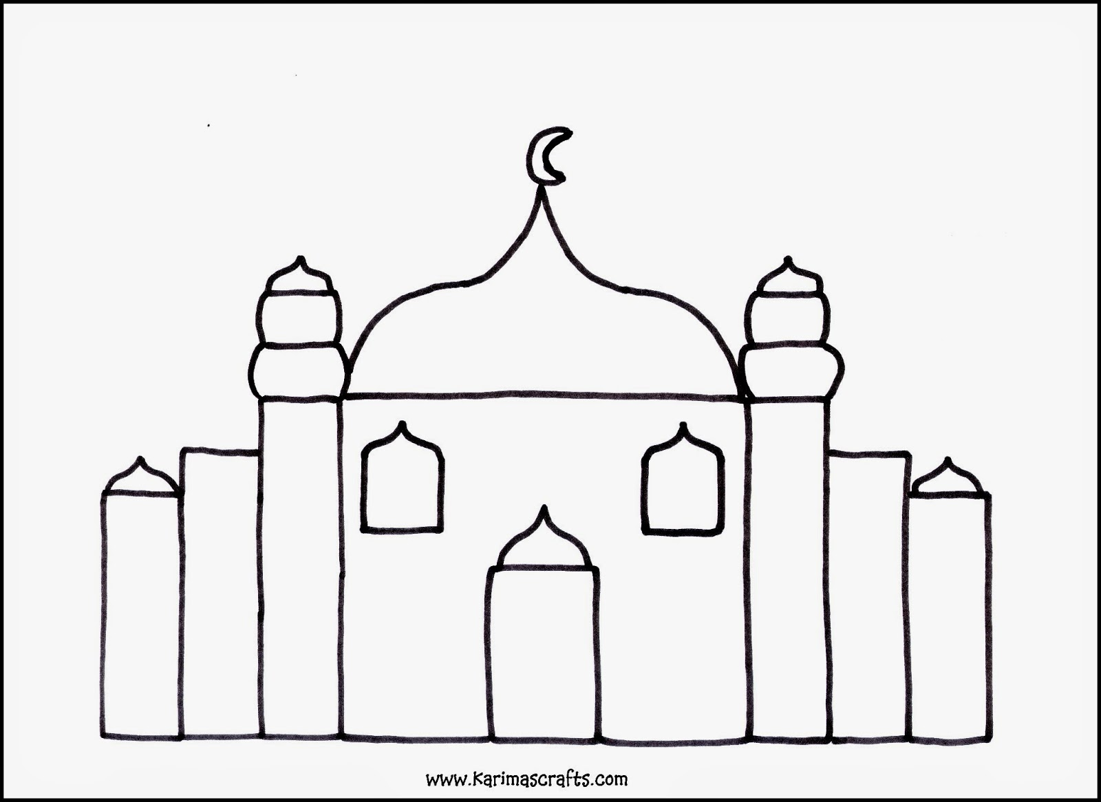 Islamic Coloring Pages Pdf : Karima s crafts islamic placemat and worksheets days