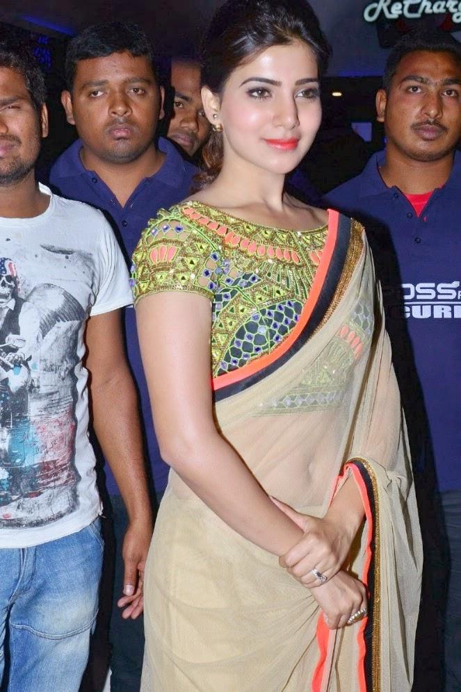 Samantha Latest Cute Saree Stills