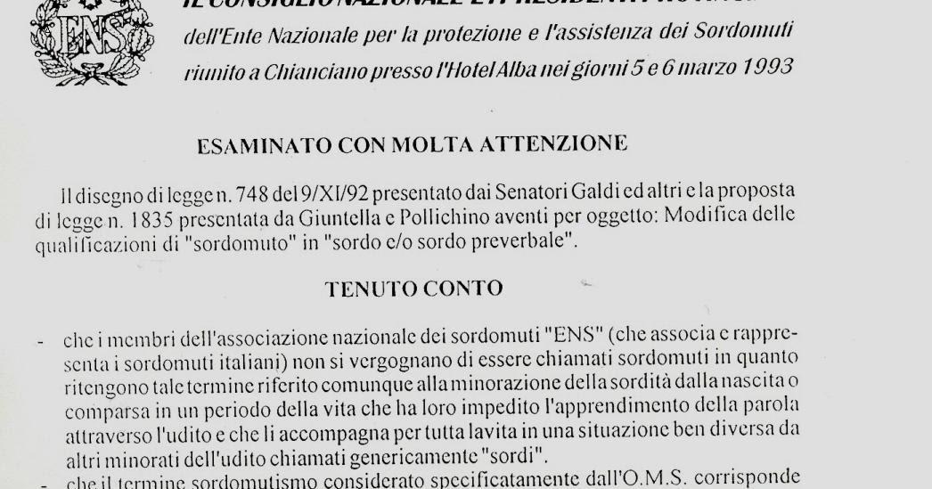 Marteau enclume etrier quanti sono i sordomuti in for Quanti sono i deputati italiani