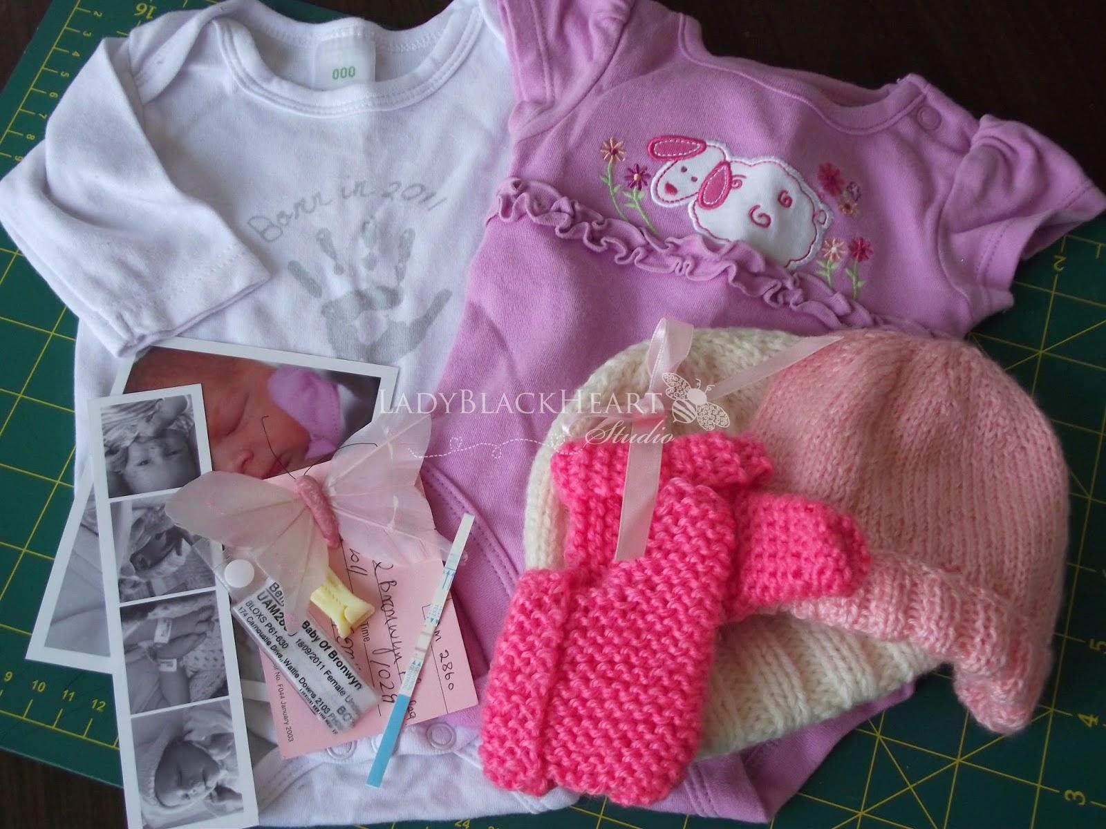 Ladyblackheart Studio Diy Baby Shadow Box Memory Keepsake Frame