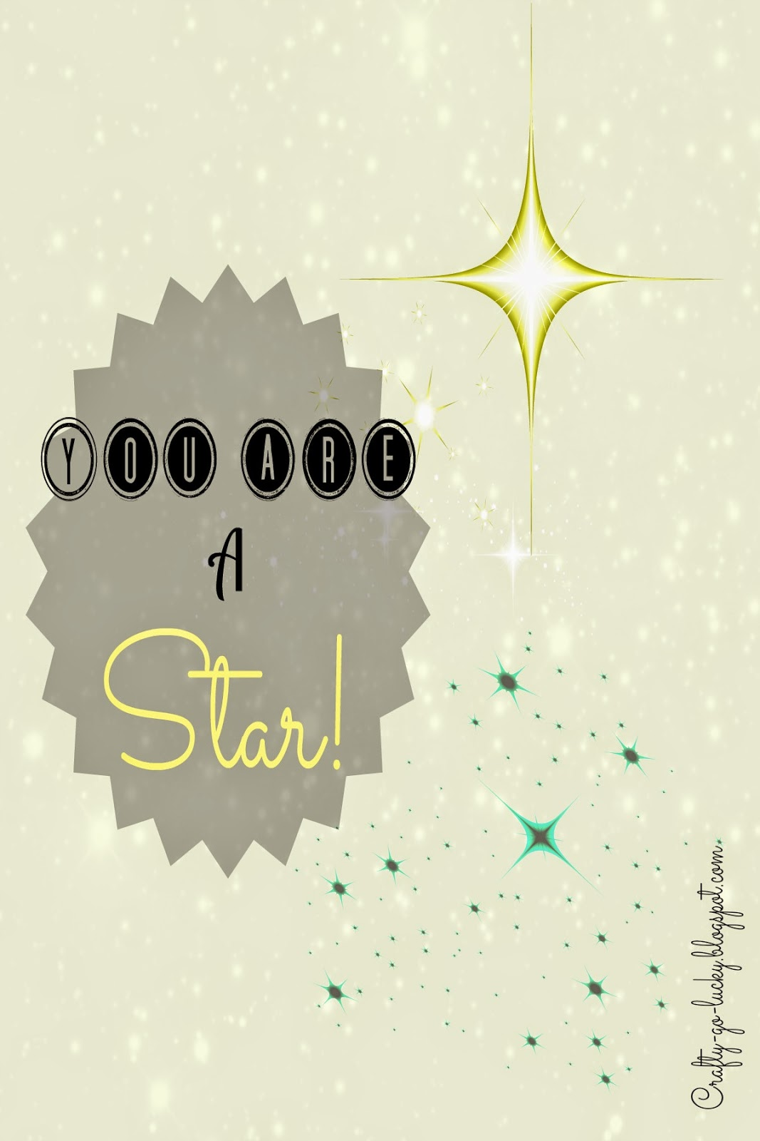 Free Recognition Printable! (3x5 & 4x6) You are a Star!