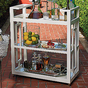 white bar cart