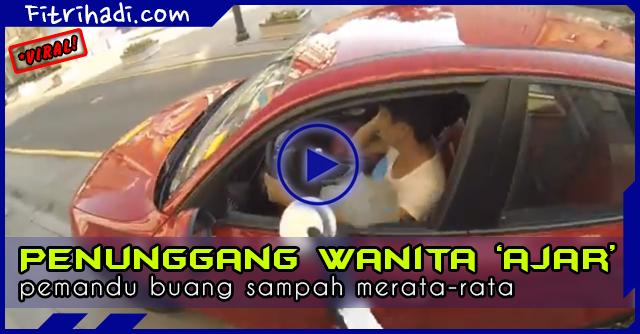 (Video) Penunggang Wanita 'Ajar' Pemandu Suka Buang Sampah