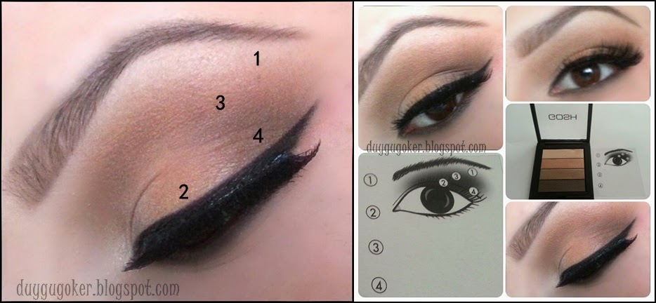 "GOSH ""02 Brown"" SMOKEY EYES PALETLE MAKYAJ"