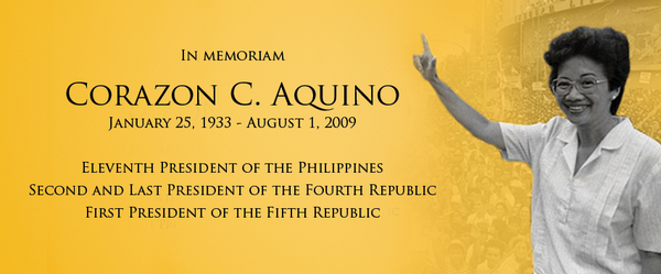 11th President of the Philippines, Corazon C.Aquino, Death Anniversary, First Female President of the Philippines