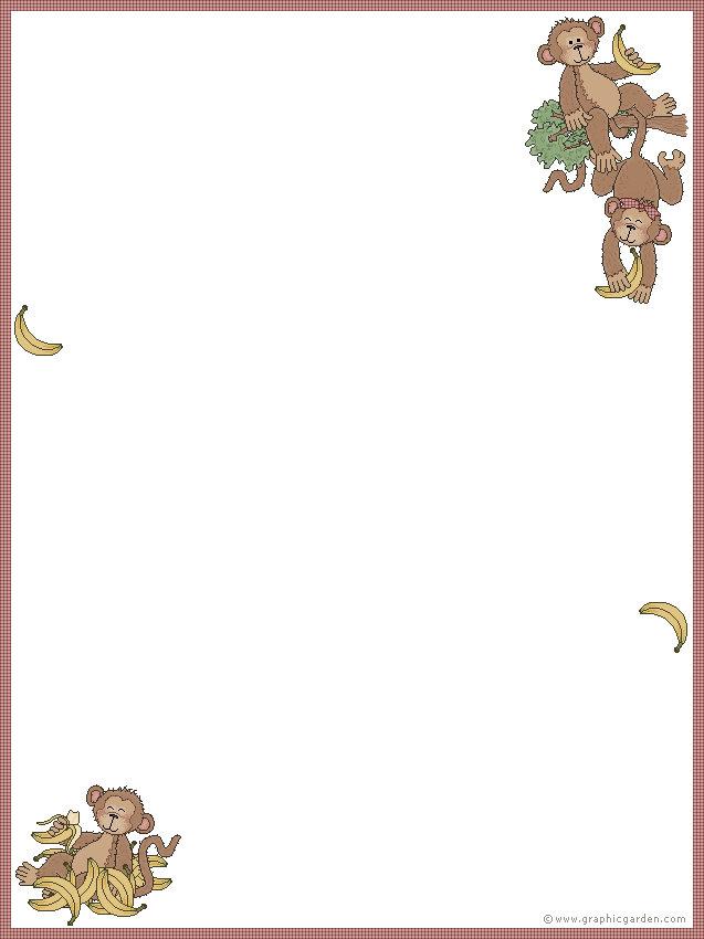 Monkey Writing Paper  Activity Village