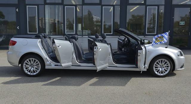 アウディ、オープンカーなのに6ドアで8人乗れるA3カブリオレを製作!?