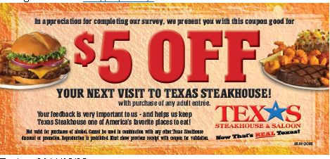 Discount coupons on chain restaurants