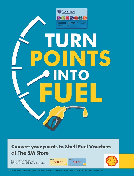 Convert your SM Advantage points to Shell fuel vouchers