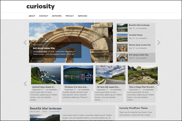 Curiosity Theme Wordpress Terbaik