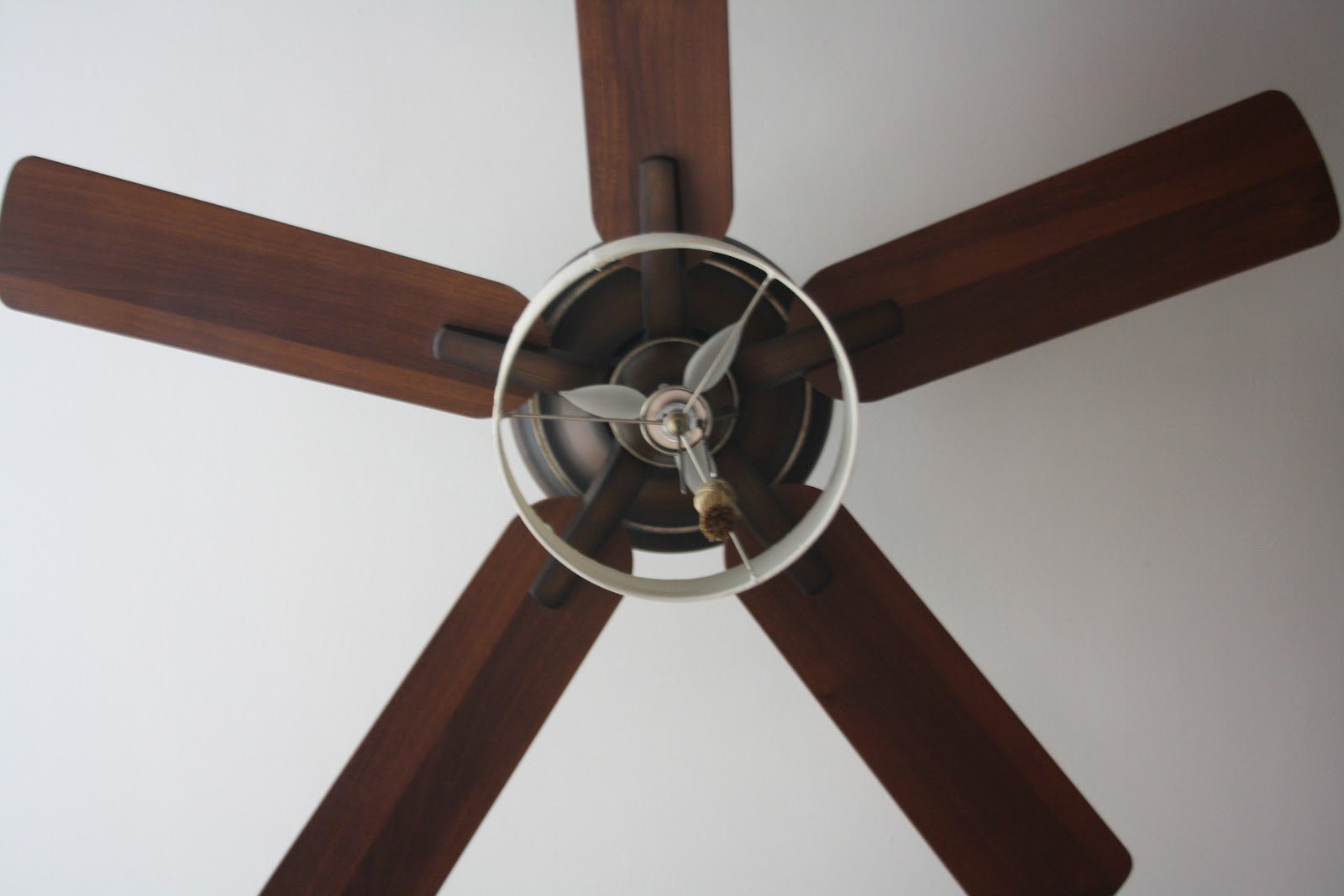view from below with diy drumshade, no diffuser