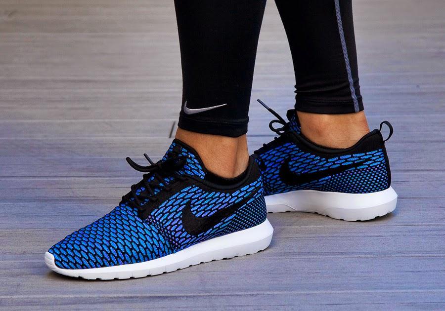 cwubn Nike Flyknit Rosherun NM Bleu