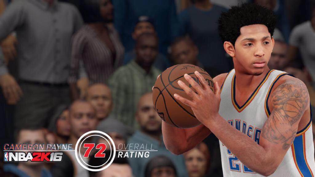 NBA 2k16 Cameron Payne Rating