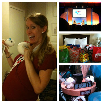Swag, Hershey's suite, giant microbes, BlogHer12