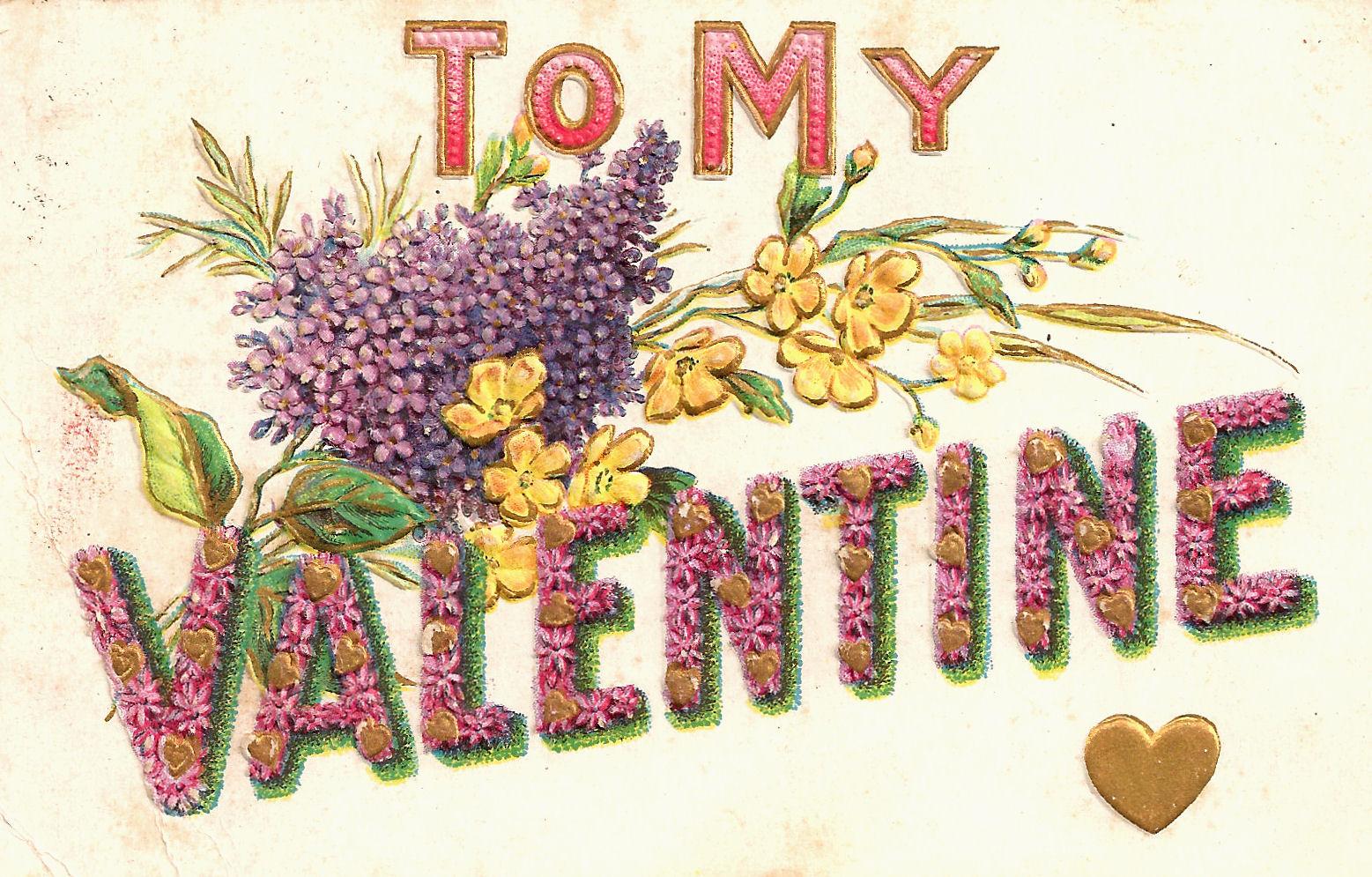Art clip free valentine vintage