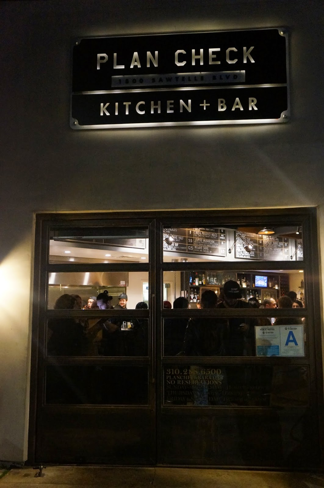 plan check kitchen bar sawtelle los angeles ca - Plan Check Kitchen