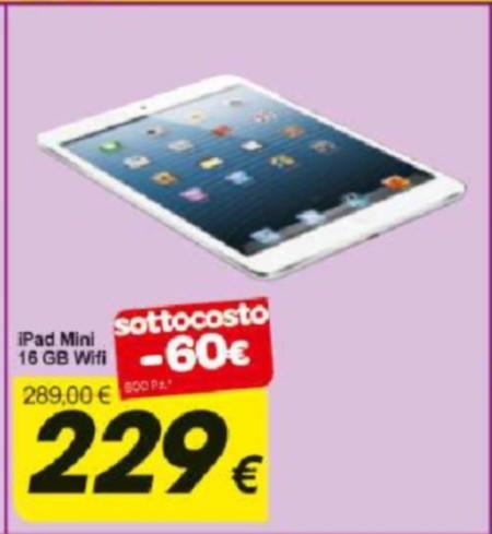 Prezzo sottocosto dell'iPad Mini da Carrefour
