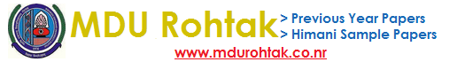 MDU Btech Himani Sample Papers Download, MDU Previous Year Papers, MDU Btech Notes