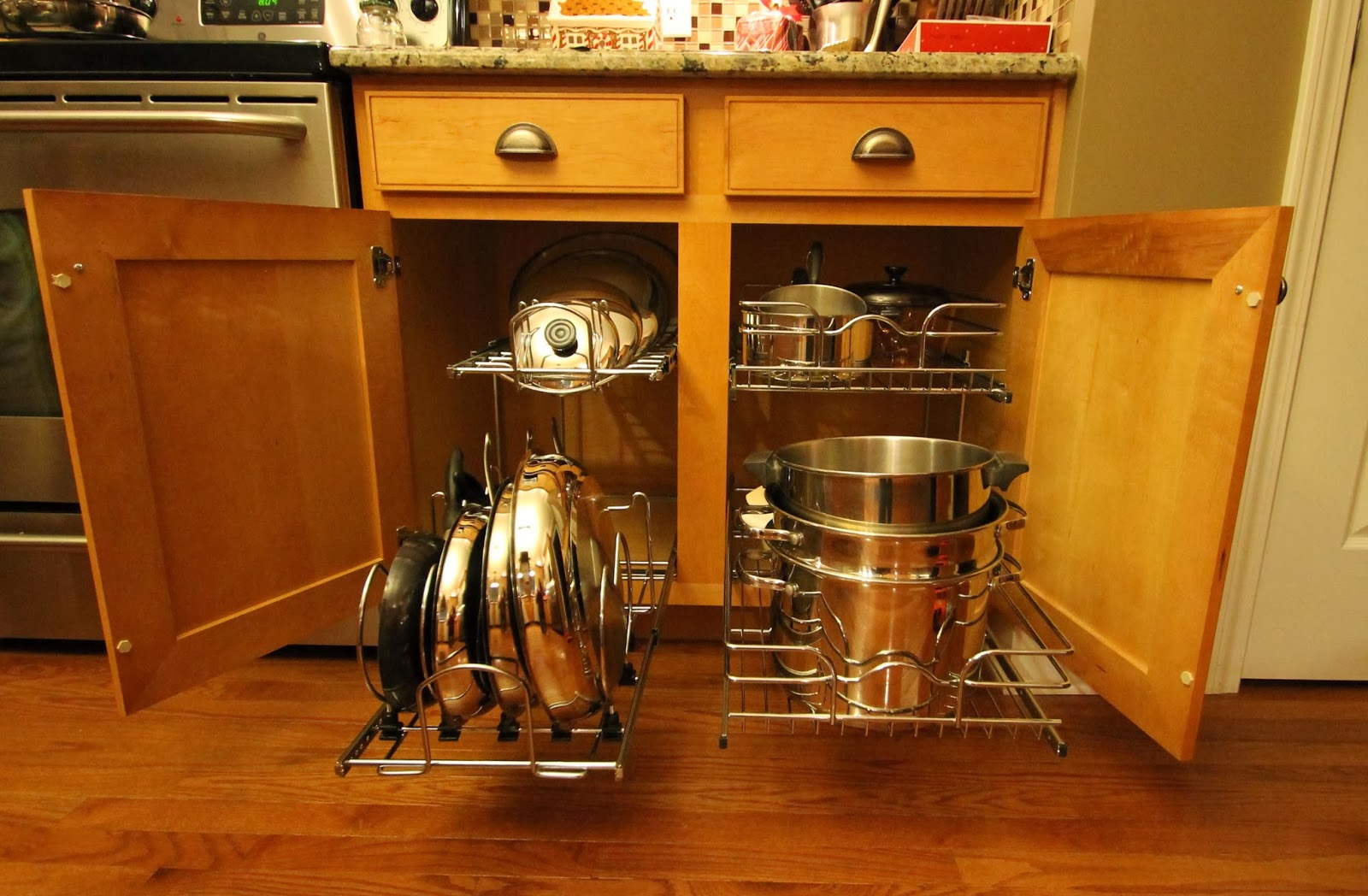 RevAShelf Two Tier Cookware Organizer