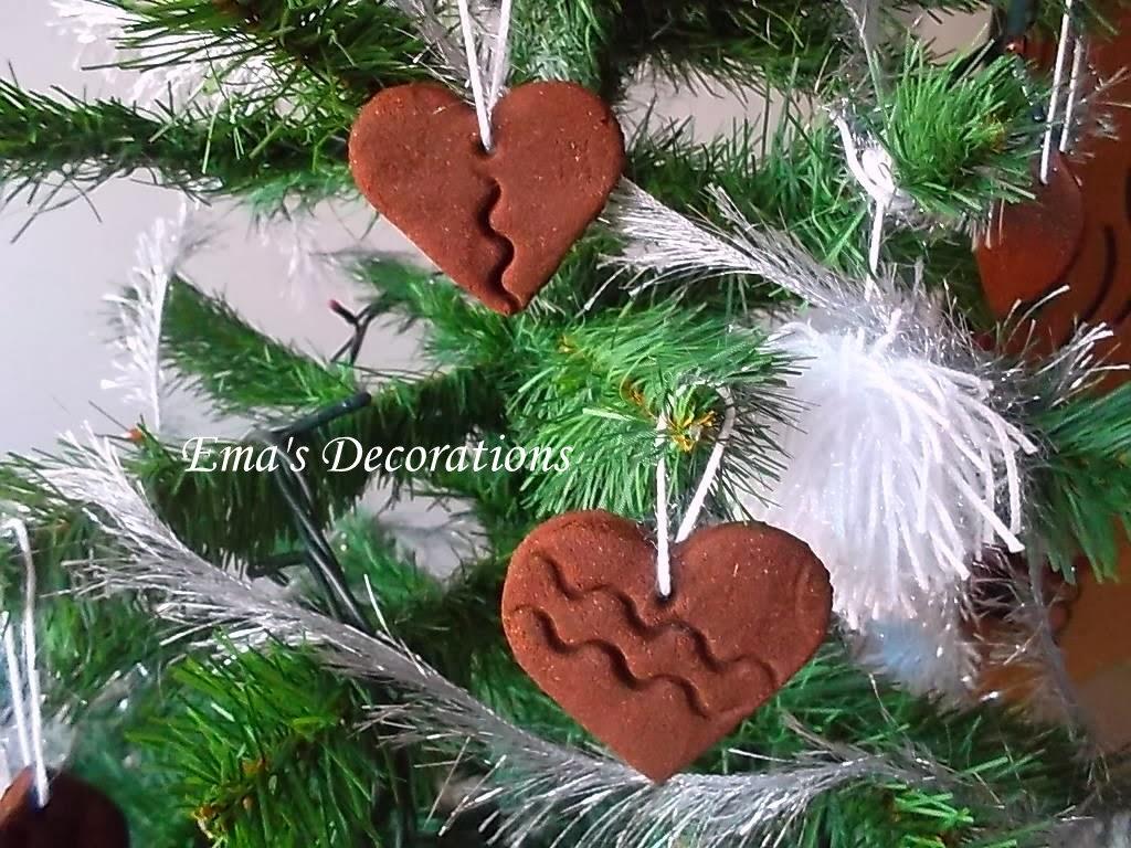 Ema Decorations Cinnamon Heart Christmas Ornaments