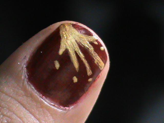 nail art designs for beginners to do at home: Really short nails nail