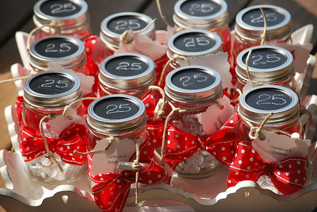 My story in recipes countdown to christmas jars for What to fill mason jars with for christmas