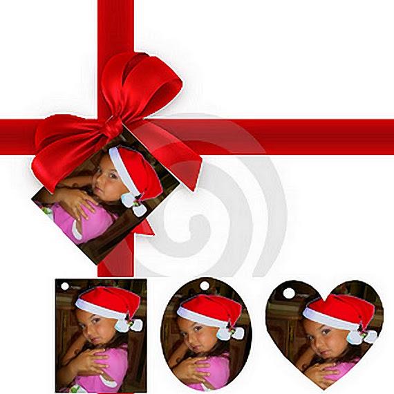 etiquette pour vos papiers cadeaux avec photos et texte aux choix