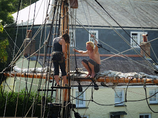 Tall ships, Charlestown, Cornwall