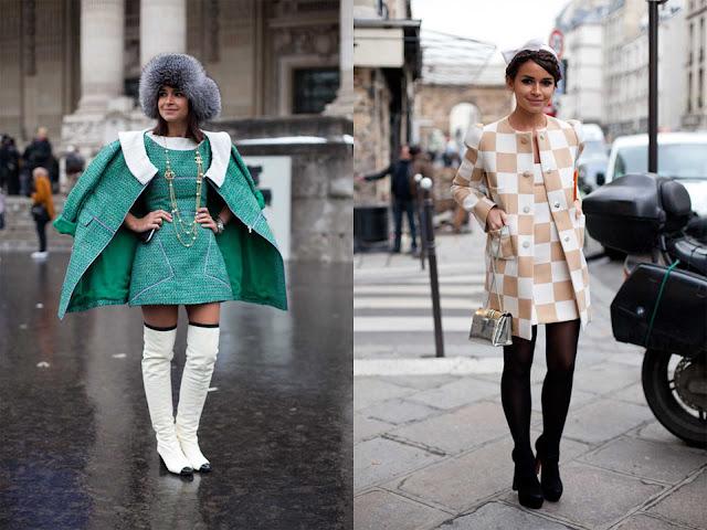 Miroslava Duma Semana de la Alta Costura París 2013 con vestido de Chanel y Louis Vuitton