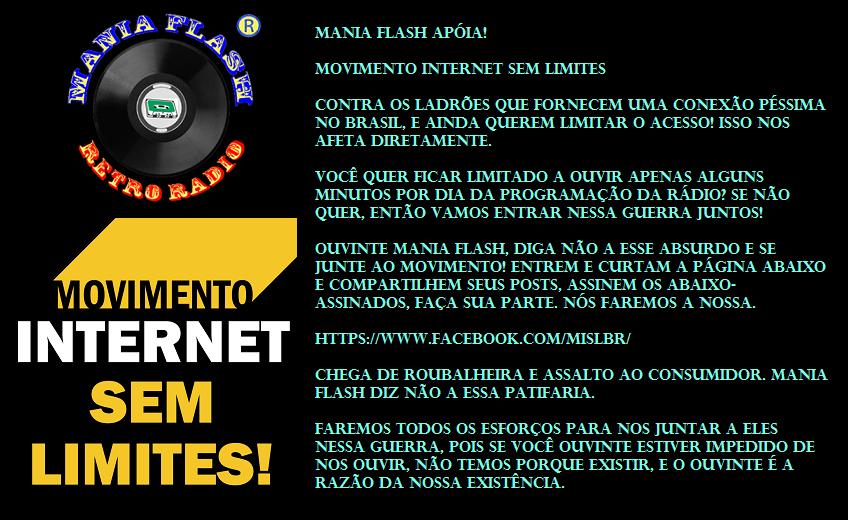 APOIO ao MOVIMENTO INTERNET SEM LIMITES