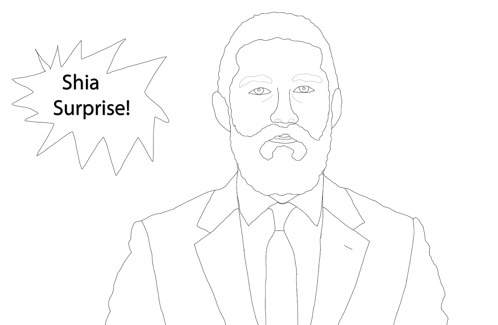 celebrity coloring book shia labeouf - Celebrity Coloring Book